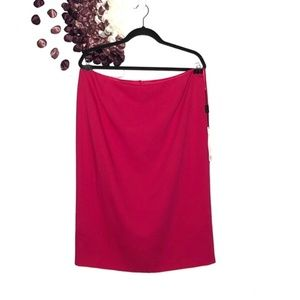 Escada Magenta/ Hot Pink Back Zip Pencil Skirt